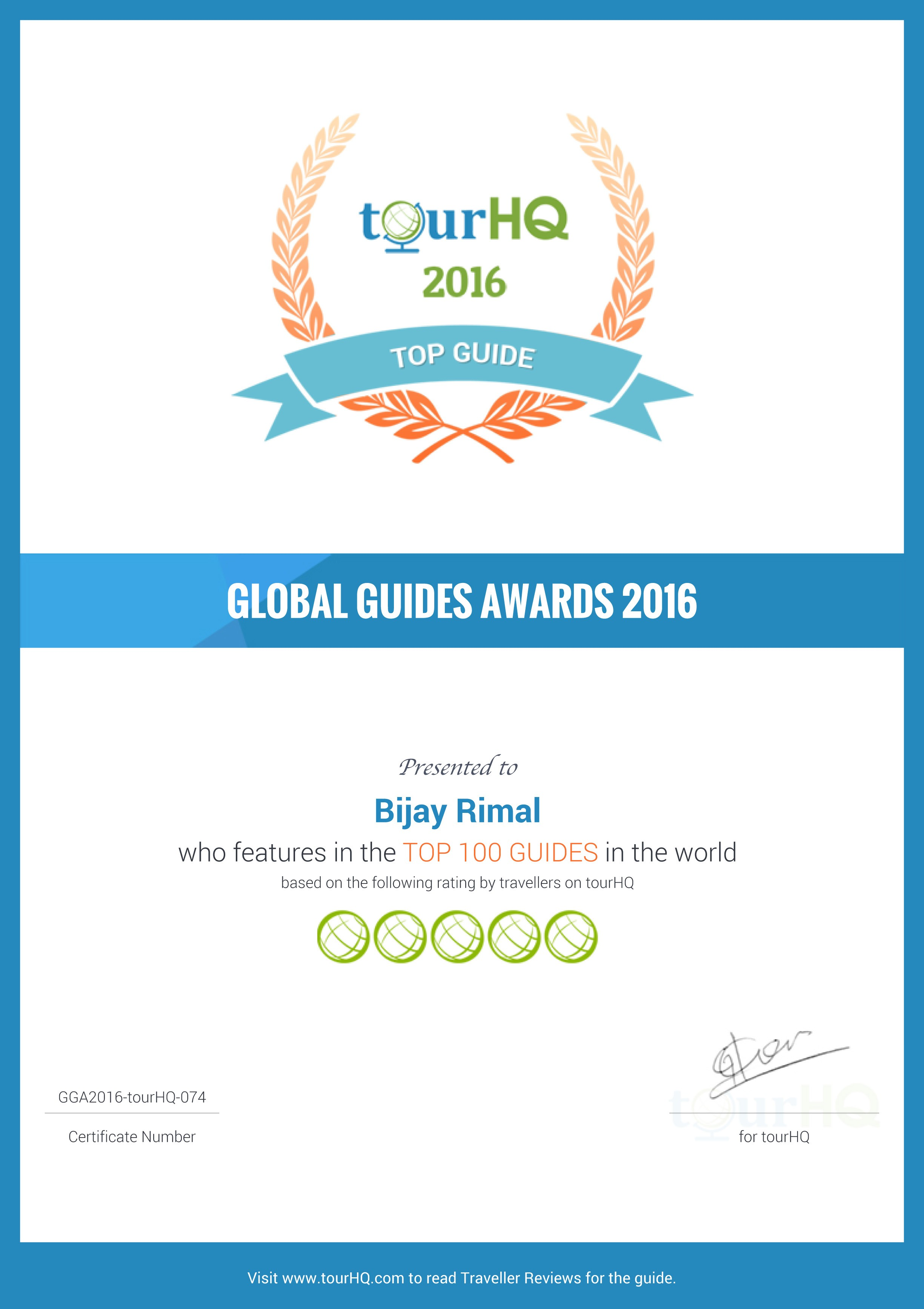 Global Guide Award 2018