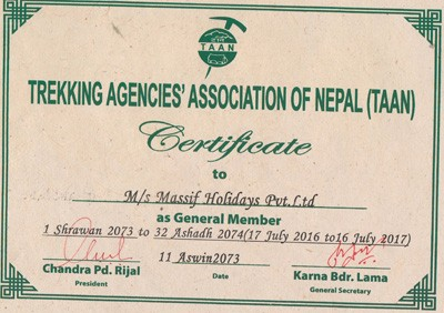Trekking Agencies' Association Membership